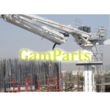 32м гидравлический бетононасос размещение бум бетононасос