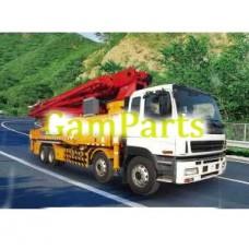 Кран XCMG Hb52A-я 52м грузовик установленный конкретный насос гидравлический
