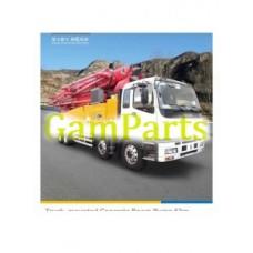 Кран XCMG горячая Продажа грузовик Hb53k 53м установленный конкретный насос гидравлический